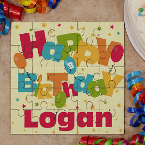 Personalized Birthday Square Puzzle
