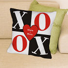 Personalized XOXO Couples Throw Pillow