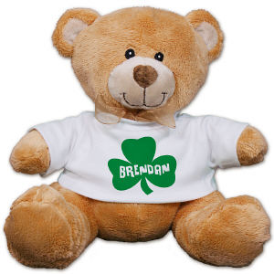 Personalized Shamrock Teddy Bear 8B8912133