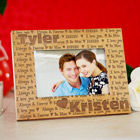 Engraved I Love You Wooden Picture Frame 8B952301