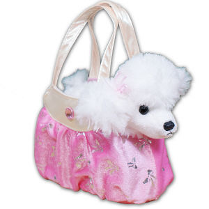 Embroidered Shimmery Pink Poodle Fancy Pal Purse 8BE4688959