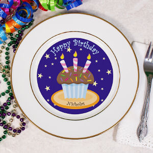 Personalized Birthday Cupcake Plate