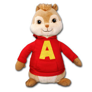 Chipmunks Alvin Plush Doll TY90106