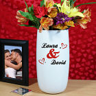 Personalized Couples Heart Flower Vase
