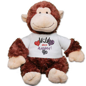 Personalized Wild About You Monkey AU30866-613