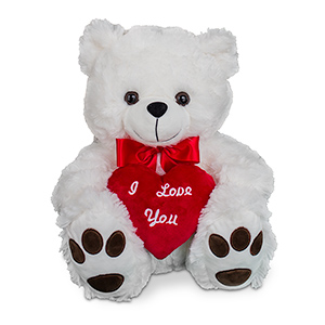 I Love You White Teddy Bear 8BNP0158