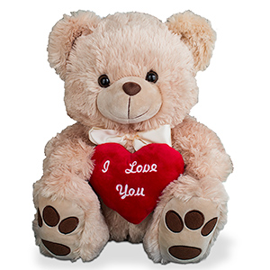 I Love You Beige Teddy Bear 8BNP0157