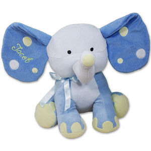 Embroidered Blue Polka Dot Elephant 8BE458352LB