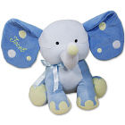 Embroidered Blue Polka Dot Elephant - 14
