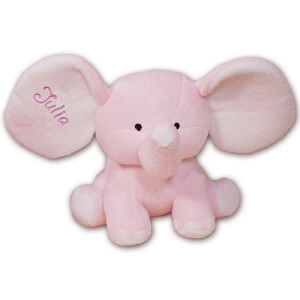 Embroidered Pink Plush Elephant 8BE458353PK