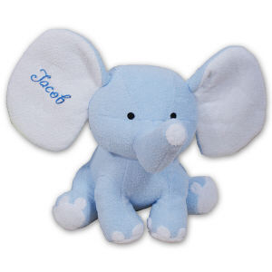 Embroidered Blue Plush Elephant - 8