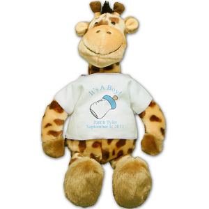 Personalized New Baby Boy Giraffe BB972172-4718
