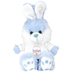 Personalized Blue Easter Bunny - 12