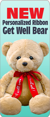 New Personalized Ribbon Get Well Bear