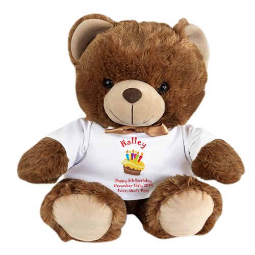 Personalized Brown Bear | Brown Teddy Bear with TShirt