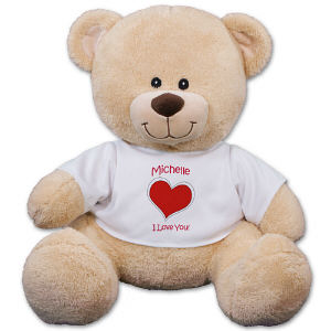 Personalized Heart Teddy Bear | Valentine's Day Ideas For Her