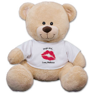Personalized Big Kiss Teddy Bear 83000B13-4752