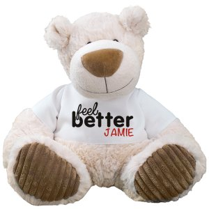 Feel Better soon  Personalized Bear - Latte 12