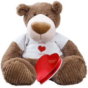 Romantic Teddy Bear with Chocolate - 20