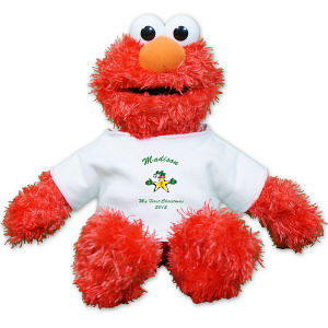 Personalized First Christmas Plush Elmo - 12