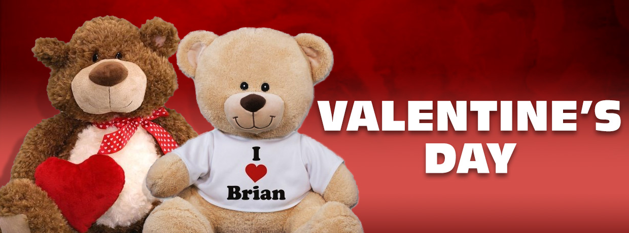 personalized valentine's day teddy bears & stuffed animals, Ideas