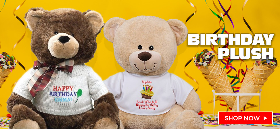 Say Happy Birthday with a Personalized Teddy Bear and Plush! Custom T-Shirts and Designs