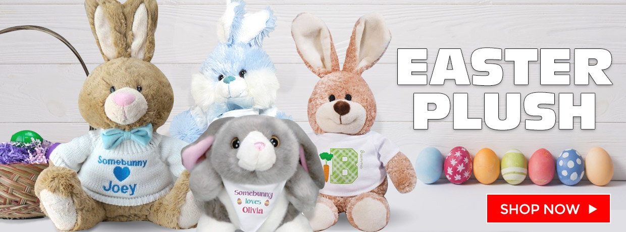 Personalized Easter Bunnies and Plush to make anyone feel better.