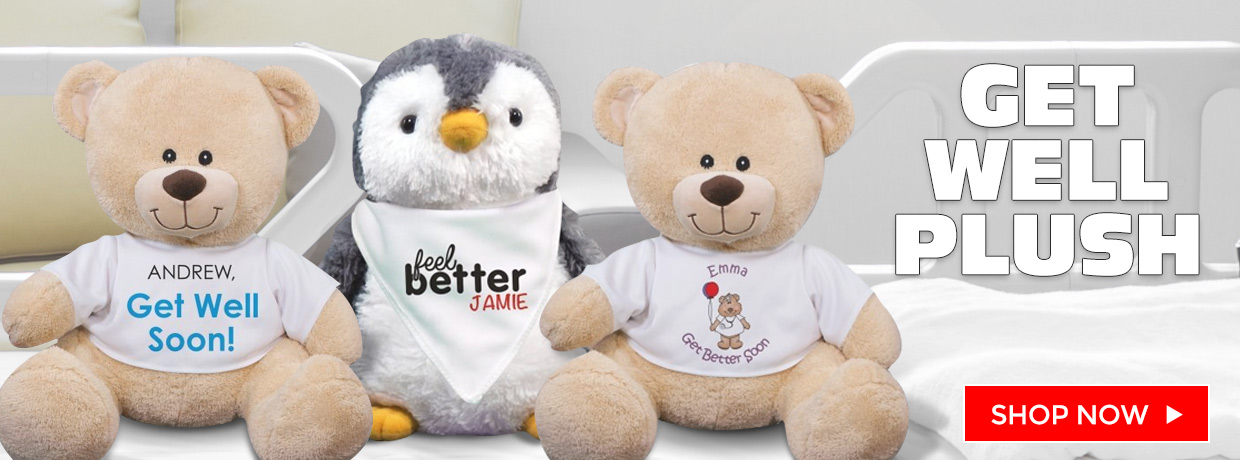Get Well Teddy Bears, Plush, and Personalized Bears