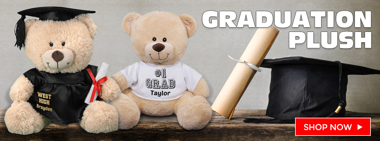 Personalized Teddy Bears and Plush for Grads and Graduates