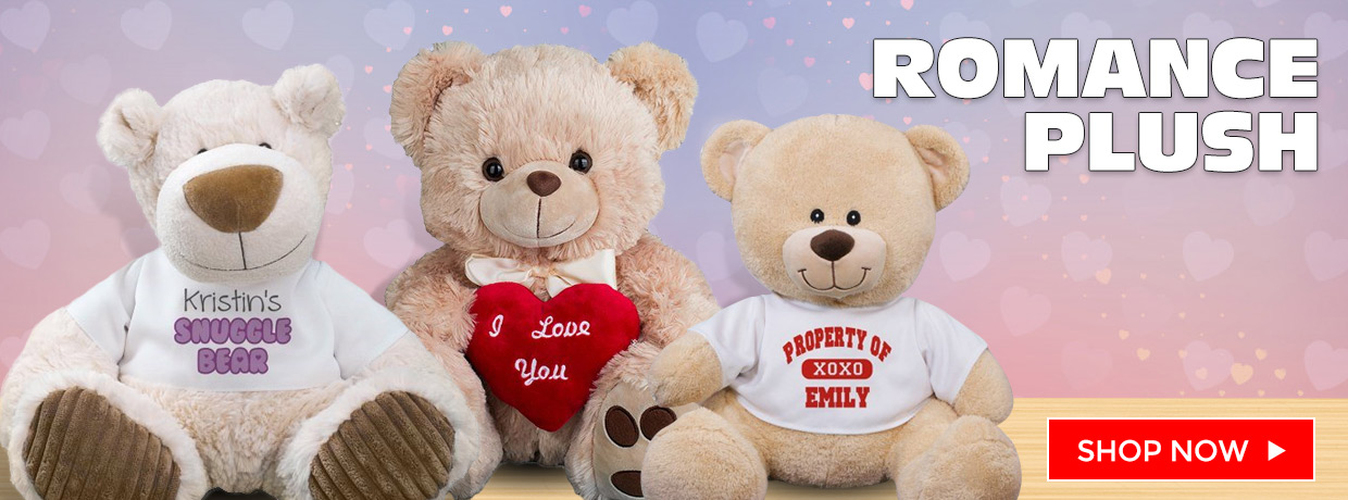 Romantic Teddy Bears, Plush, and Personalized Bears