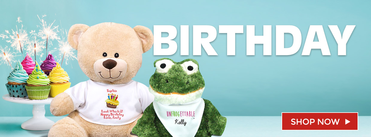 Happy Birthday Teddy Bears, Plush, and Personalized Bears