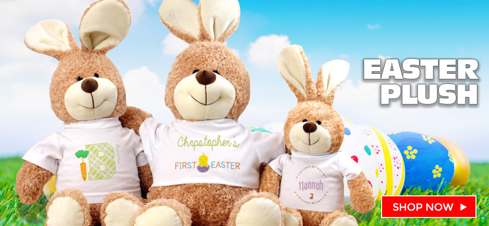 Celebrate Easter with an Easter Bunny plush or teddy bear!