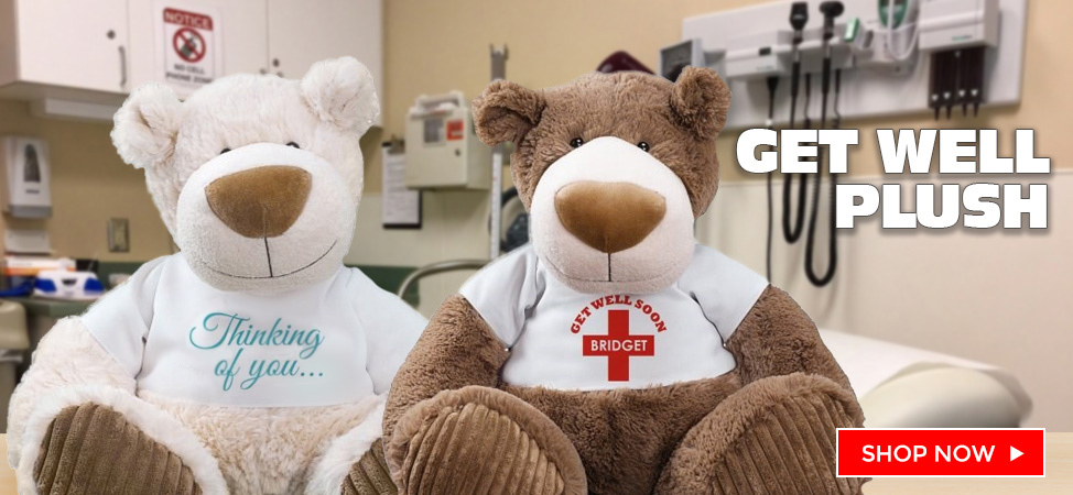 Let a Get Well Plush and Teddy Bear comfort the ones you love.