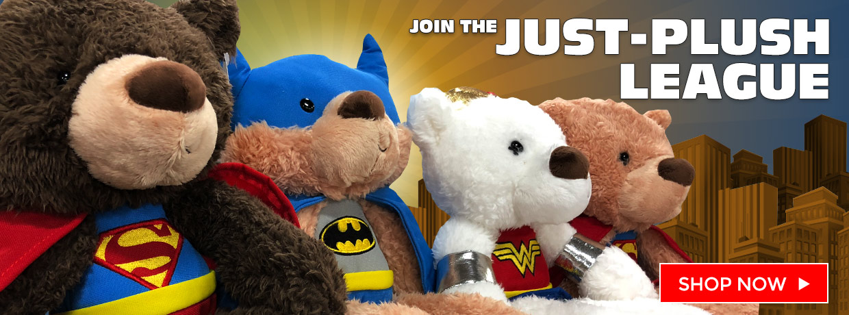Super Heroes Plush with Wonder Woman, Batman, Superman, and Super Girl