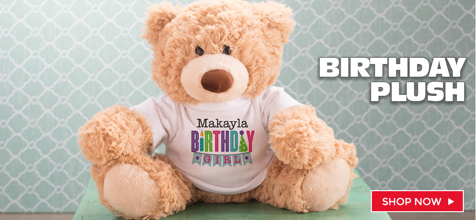 Personalized Birthday Teddy Bears and Plush