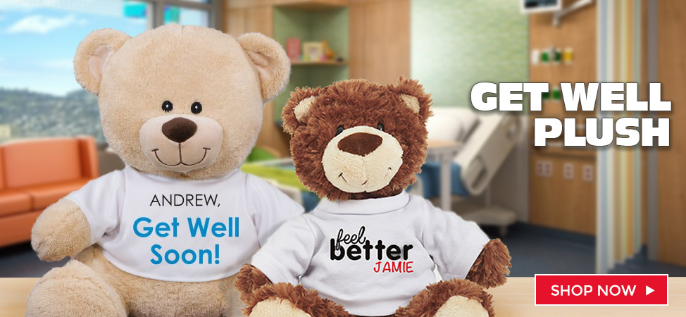 Personalized Get Well Gifts for all your Teddy Bears and Plush Needs