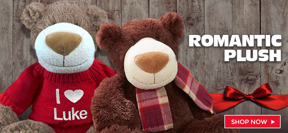 Celebrate Valentine's Day with a cozy, romantic plush and teddy bear!