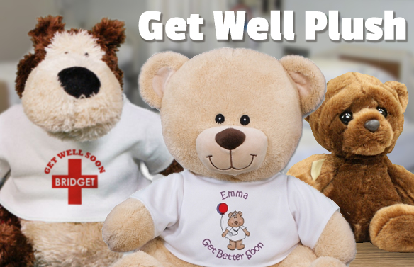 Personalized Bears and Plush Gifts with Get Well Messages