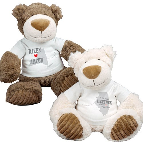Personalized Always Together Teddy Bear Set AU1645-8221