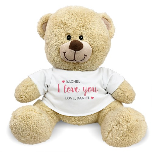 Personalized I Love You Hearts Teddy Bear 8312448X