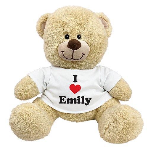 Personalized I Love You Teddy Bear | Personalized Valentine's Day Bears
