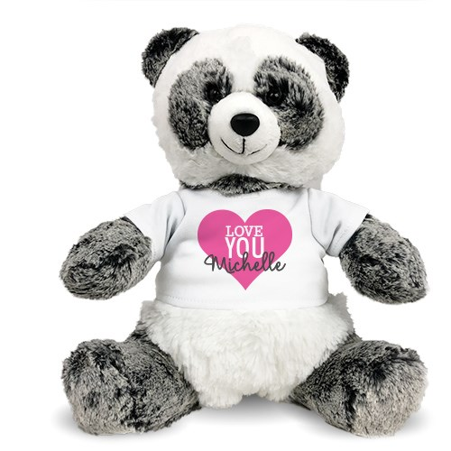 Personalized Valentine Teddy Bear | Plush Valentine Panda