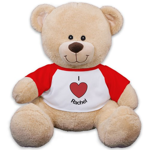Personalized I Heart You Teddy Bear | Personalized Valentine's Day Teddy Bear