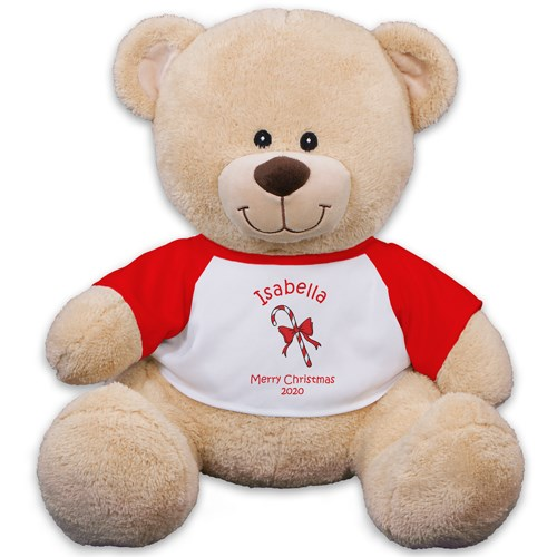 Personalized Candy Cane Teddy Bear 83xxxb13-4989