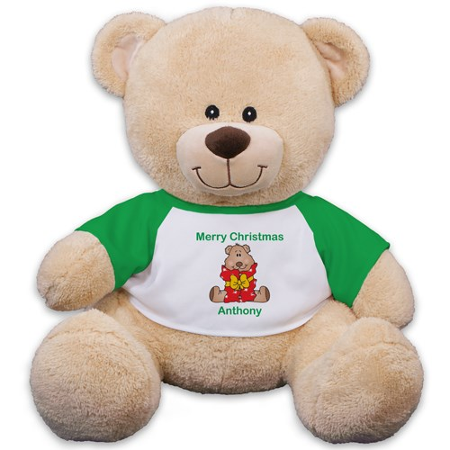 Personalized Christmas Present Teddy Bear 83xxxb13-4990