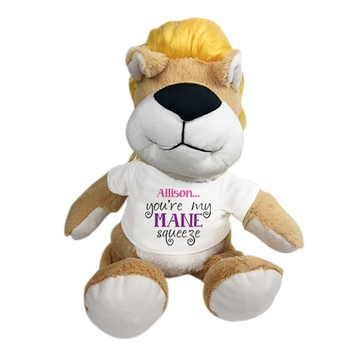 Personalized Stuffed Lion | Romantic Plush Lion Stuffed Animal