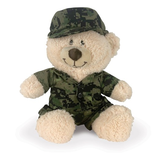 Camouflage Teddy Bear Costume | Army Camo Outfit Accessory for Stuffed Animal