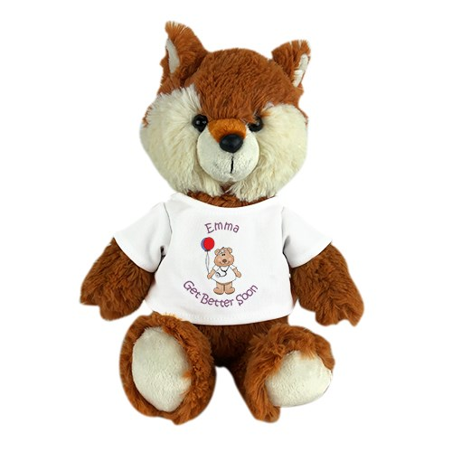 Stuffed Fox Personalized | Get Well Stuffed Fox
