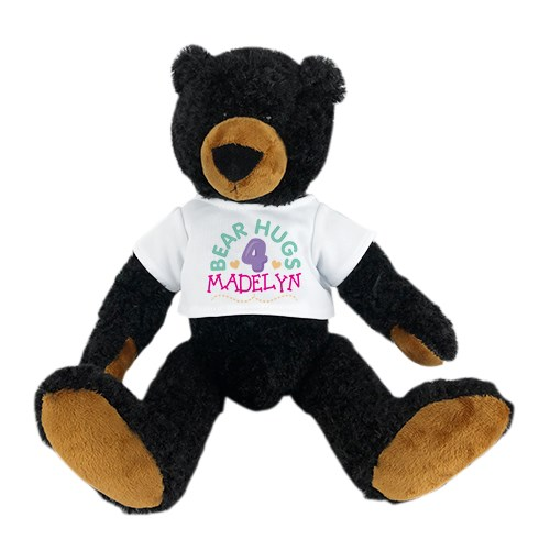 Personalized Teddy Bear | Stuffed Black Bear