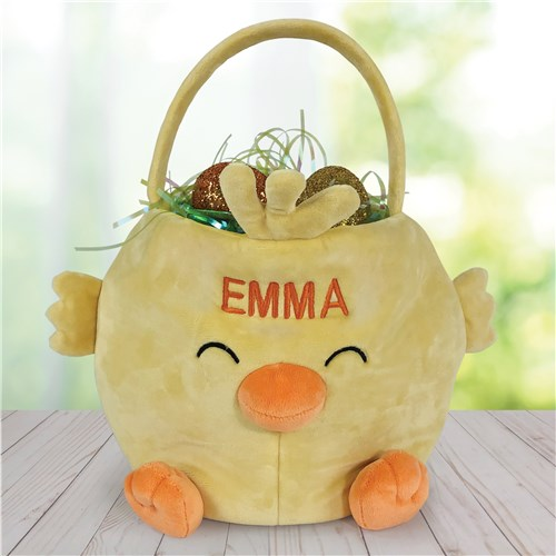 Embroidered Chick Easter Basket E14223439